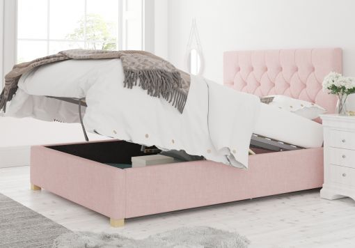 York Ottoman Pastel Cotton Tea Rose Bed Frame Only