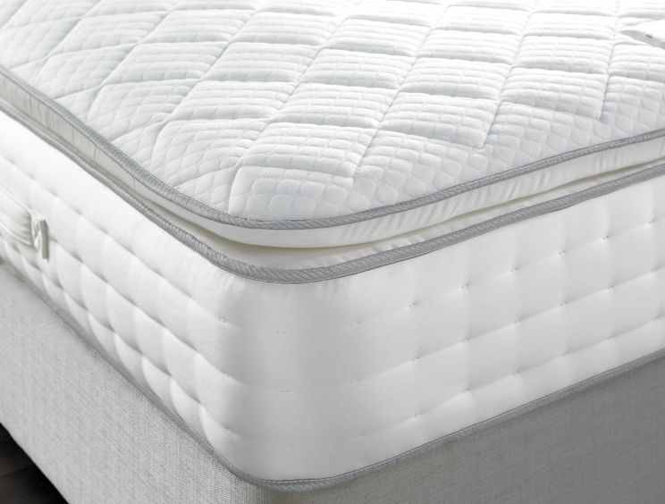 Sleep Sanctuary Plush 1500 Pocket Natural Pillow Top Quilted Mattress
