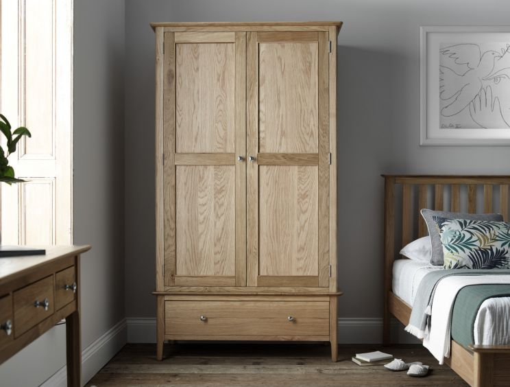 Newport Oak Large 2 Door Wardrobe