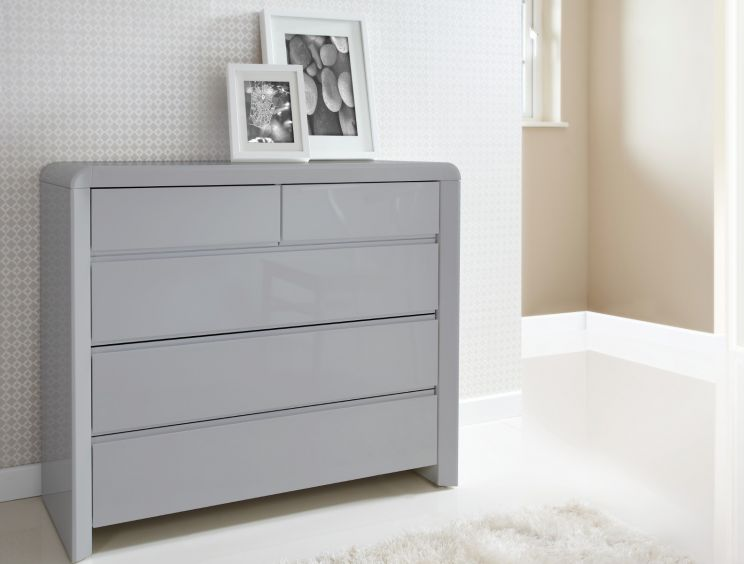 Ice 3+2 High Gloss Chest - Grey