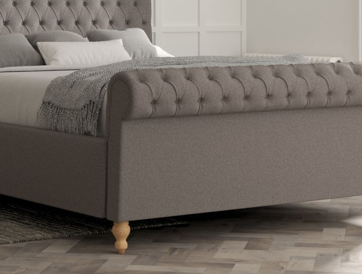 Aldwych Shetland Mercury Upholstered Sleigh Bed Only