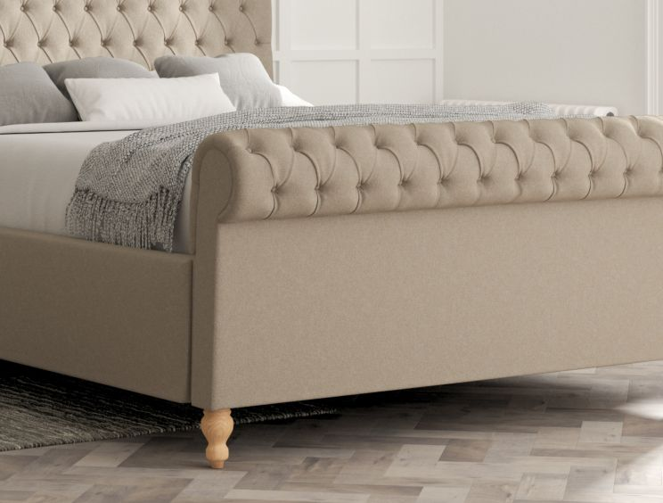 Aldwych Arran Natural Upholstered Sleigh Bed Only