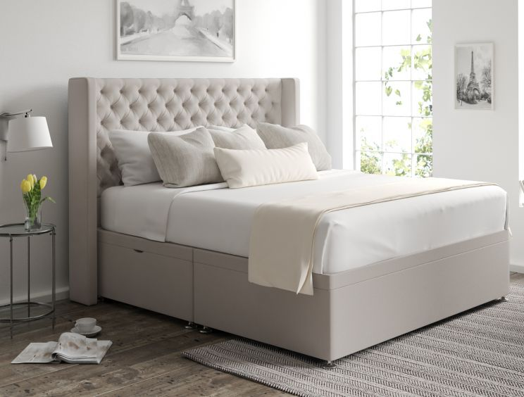 Bella Ottoman Arran Natural Headboard and Base Only