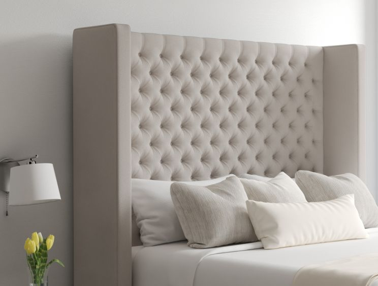 Emma Ottoman Arran Natural Headboard and Base Only
