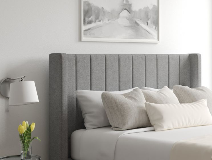 Aurelia Ottoman Arran Pebble Headboard and Base Only