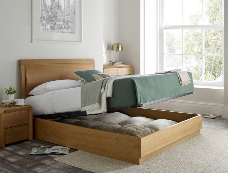 Surprising Arran Oak Ottoman Storage Bed Gmtry Best Dining Table And Chair Ideas Images Gmtryco
