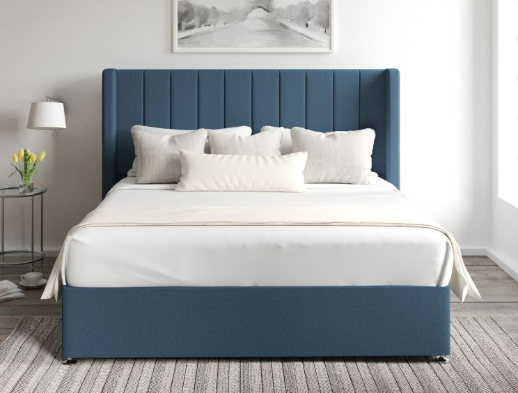Aurelia Classic 4 Drw Continental Arran Cyan Headboard and Base Only