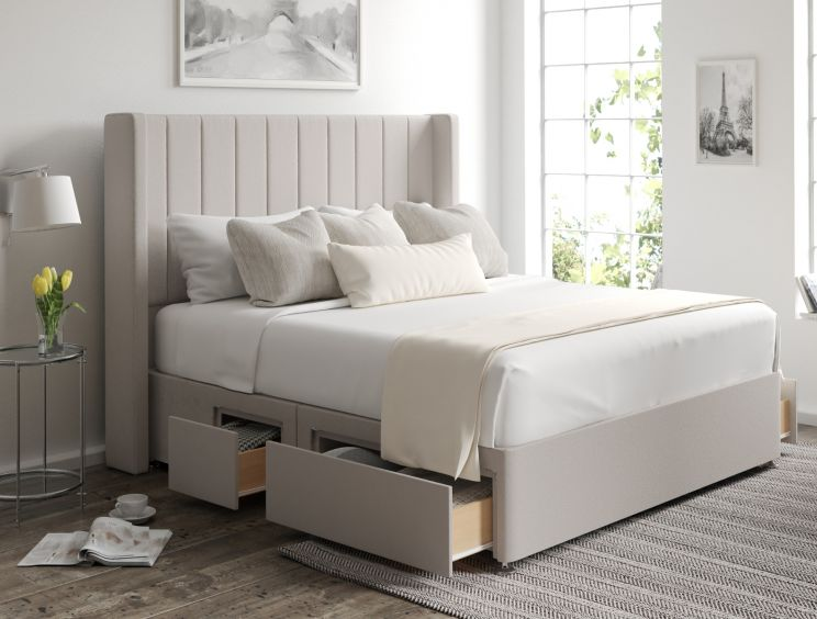 Aurelia Classic 4 Drw Continental Arran Natural Headboard and Base Only