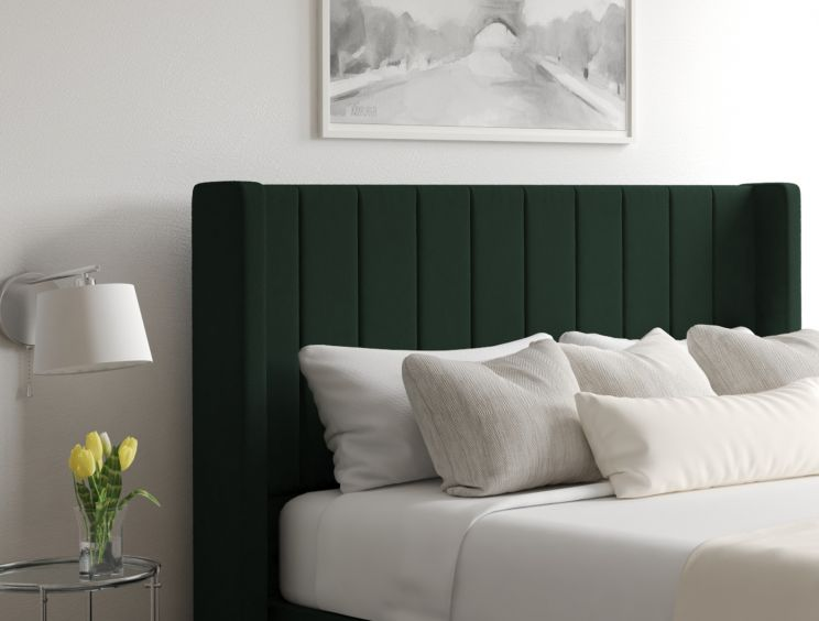 Aurelia Classic 4 Drw Continental Gatsby Forest Headboard and Base Only