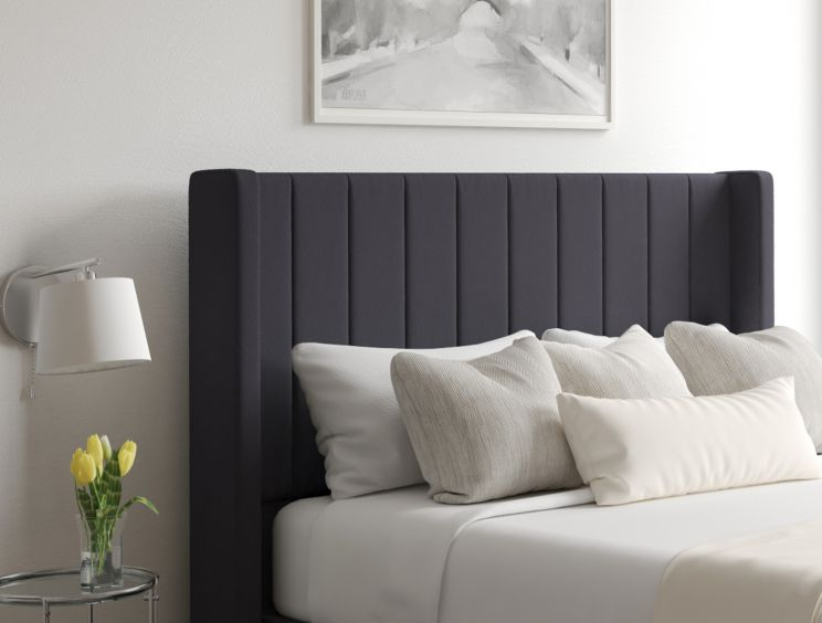Aurelia Classic 4 Drw Continental Gatsby Gun Metal Headboard and Base Only