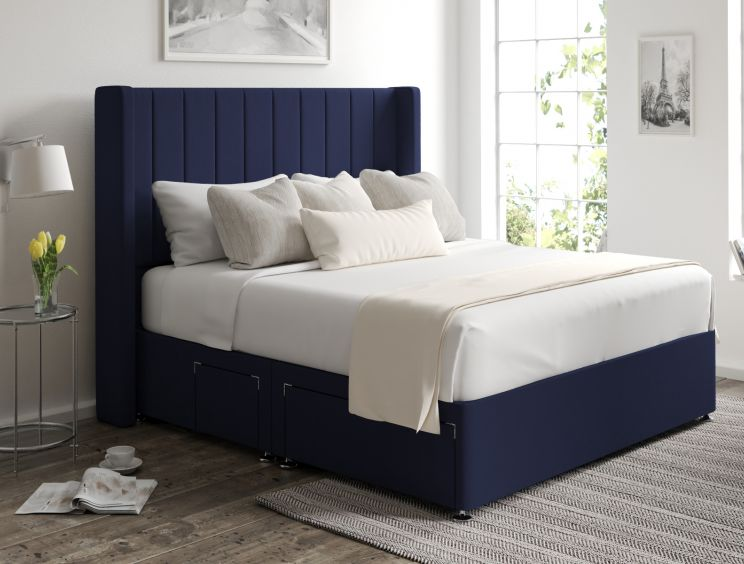 Aurelia Classic 4 Drw Continental Gatsby Indigo Headboard and Base Only