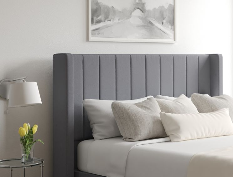 Aurelia Classic 4 Drw Continental Gatsby Platinum Headboard and Base Only