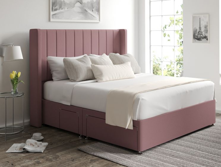Aurelia Classic 4 Drw Continental Gatsby Rose Headboard and Base Only