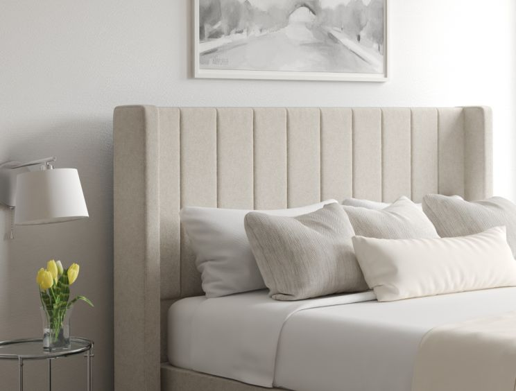 Aurelia Classic 4 Drw Continental Trebla Flax Headboard and Base Only