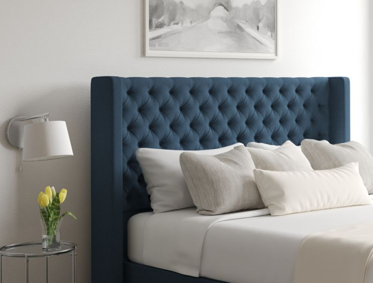 Bella Arran Cyan Upholstered Floor Standing Headboard