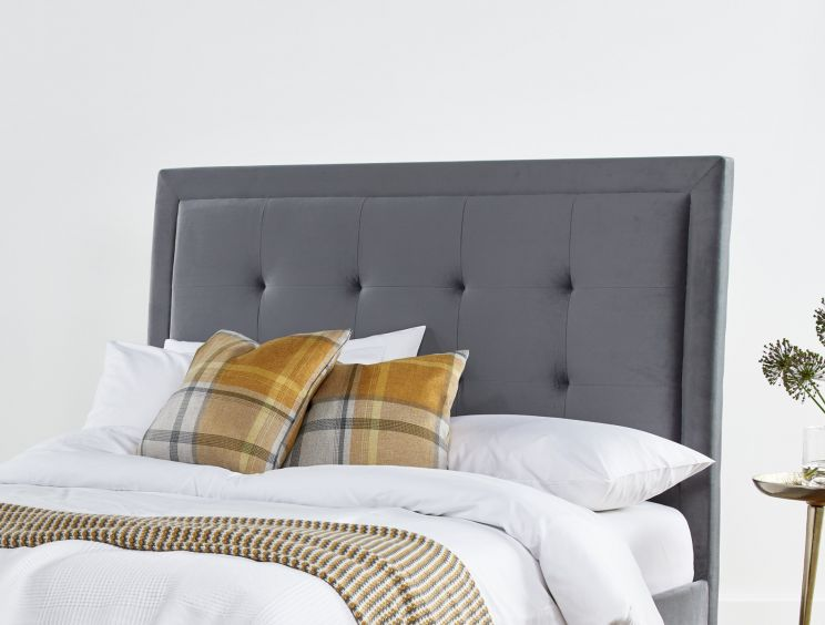 Brampton Grey Upholstered Bed Frame Only