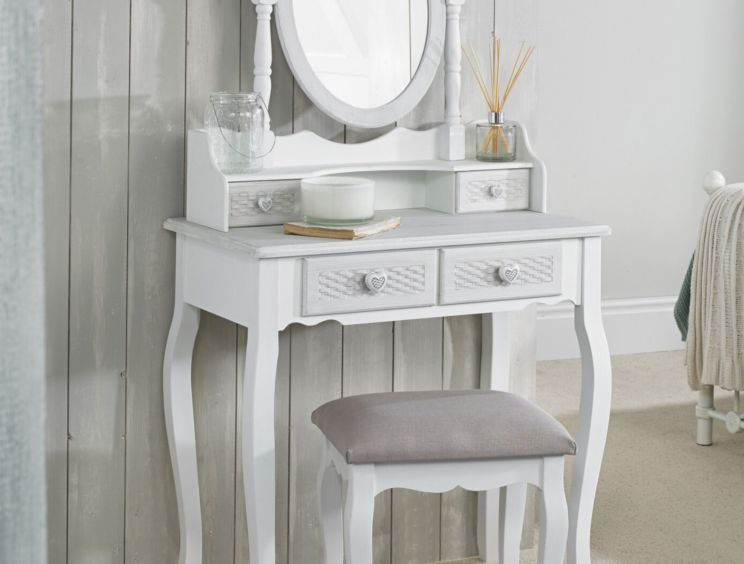 Brittany White/Grey Dressing Table
