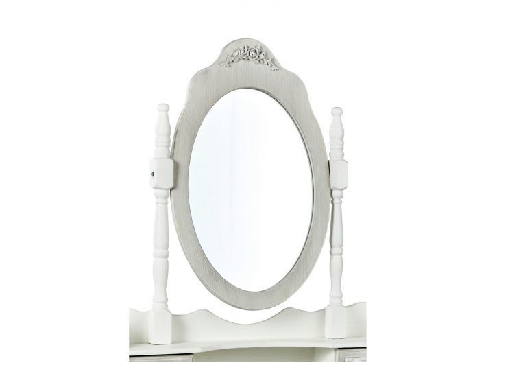 Brittany White/Grey Dressing Table Mirror