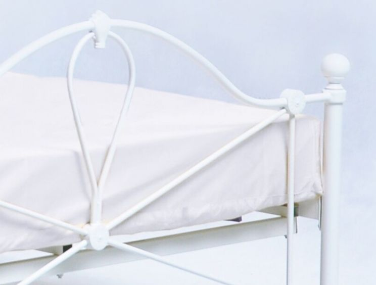 Bronte Off White King Size Bed Frame