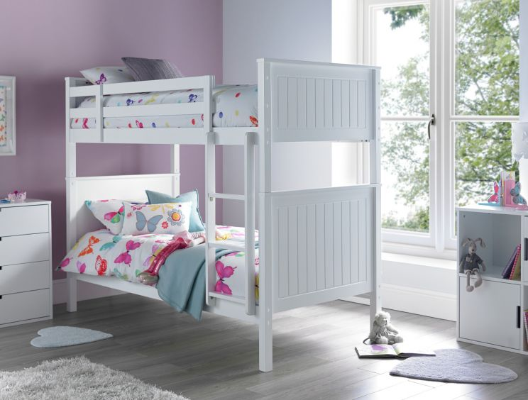 New England White Bunk Bed