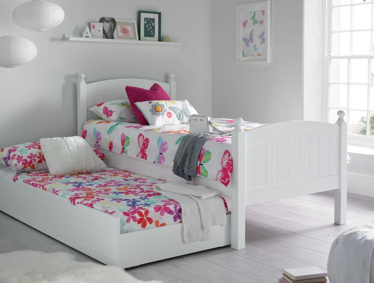 Charleston Solo White Bed With Liv & Lou Guest UnderBed
