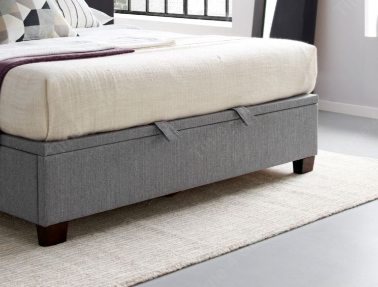 Kaydian Chilton Artemis Grey Upholstered Ottoman Bed Frame Only