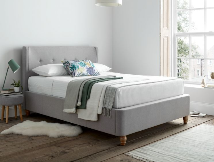 Ciao Wolf Grey Upholstered Bed Frame