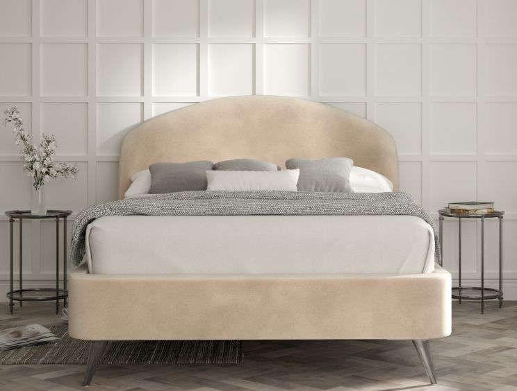 Eclipse Savannah Almond  Upholstered Bed Frame Only
