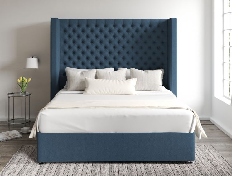 Emma Classic 4 Drw Continental Arran Cyan Headboard and Base Only