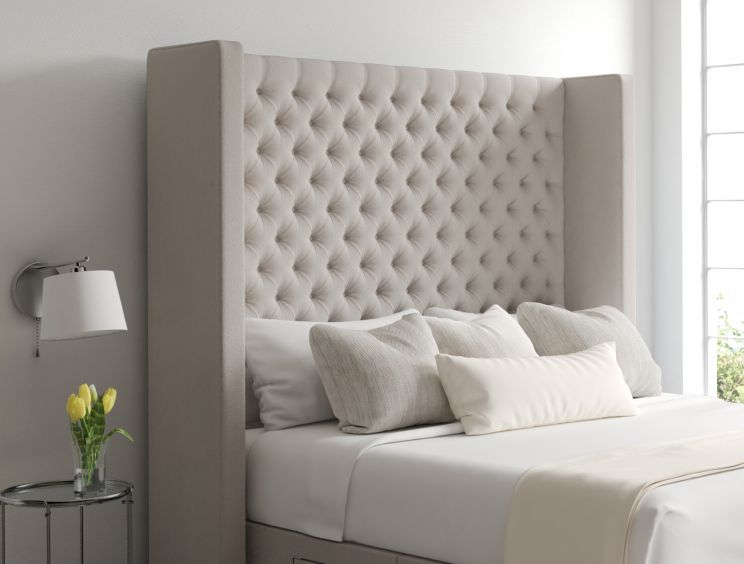 Emma Classic 4 Drw Continental Arran Natural Headboard and Base Only