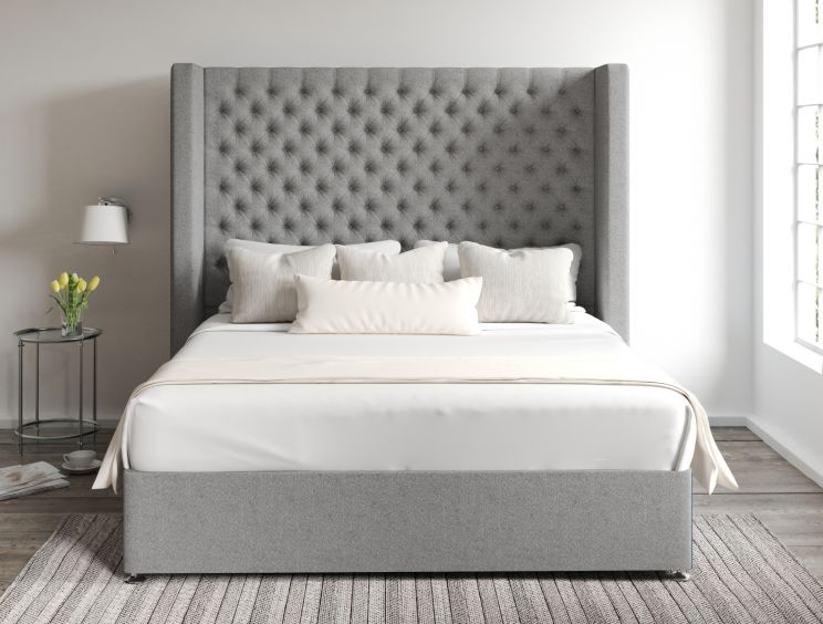 Emma Classic 4 Drw Continental Arran Pebble Headboard and Base Only