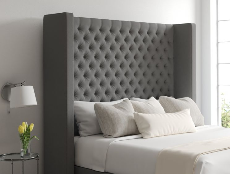 Emma Classic 4 Drw Continental Chamonix Silver Headboard and Base Only