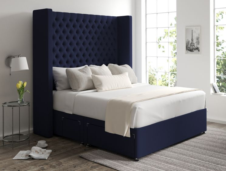 Emma Classic 4 Drw Continental Gatsby Indigo Headboard and Base Only