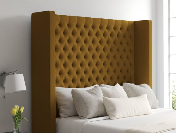 Emma Classic 4 Drw Continental Gatsby Ochre Headboard and Base Only