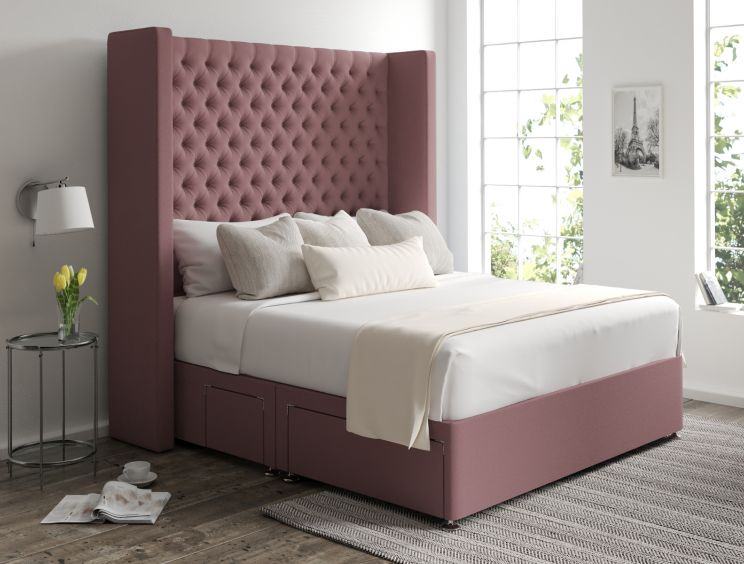 Emma Classic 4 Drw Continental Gatsby Rose Headboard and Base Only