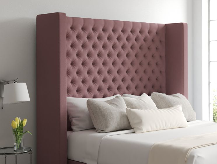 Emma Gatsby Rose Upholstered Floor Standing Headboard