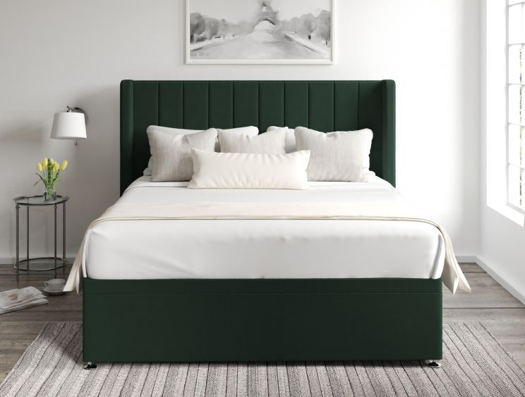 Aurelia Ottoman Gatsby Forest Headboard and Base Only
