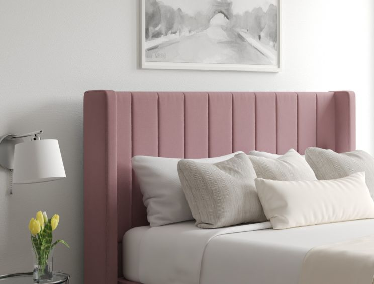 Aurelia Ottoman Gatsby Rose Headboard and Base Only