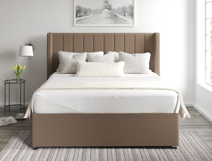 Aurelia Ottoman Gatsby Taupe Headboard and Base Only