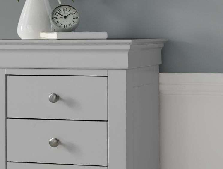 Chateaux Grey 3 Drawer Bedside