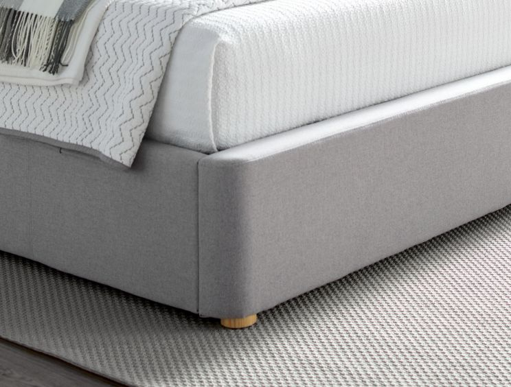 Rhapsody Wolf Grey Upholstered Ottoman Bed Frame