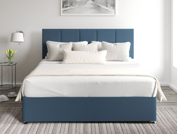 Hannah Classic 4 Drw Continental Arran Cyan Headboard and Base Only
