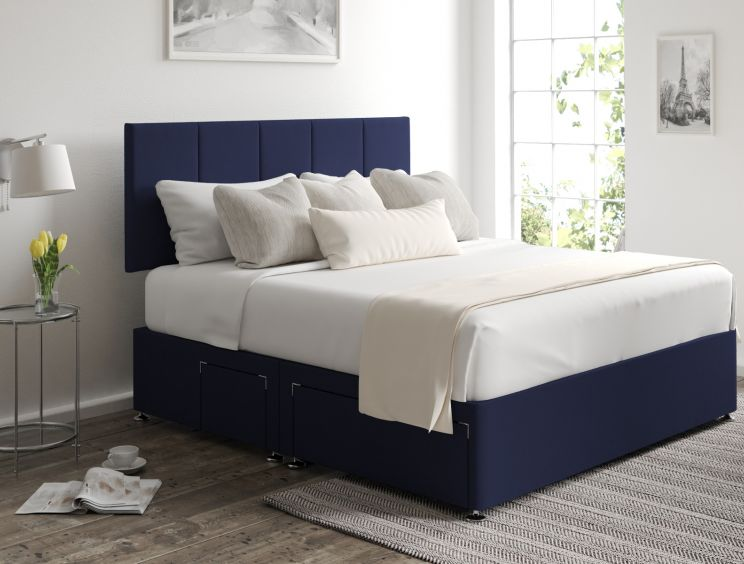 Hannah Classic 4Drw Continental Gatsby Indigo Headboard and Base Only