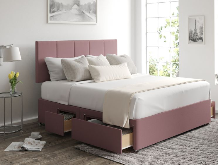 Hannah Classic 4Drw Continental Gatsby Rose Headboard and Base Only