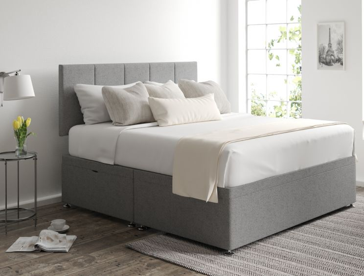 Hannah Ottoman Arran Pebble Headboard and Base Only
