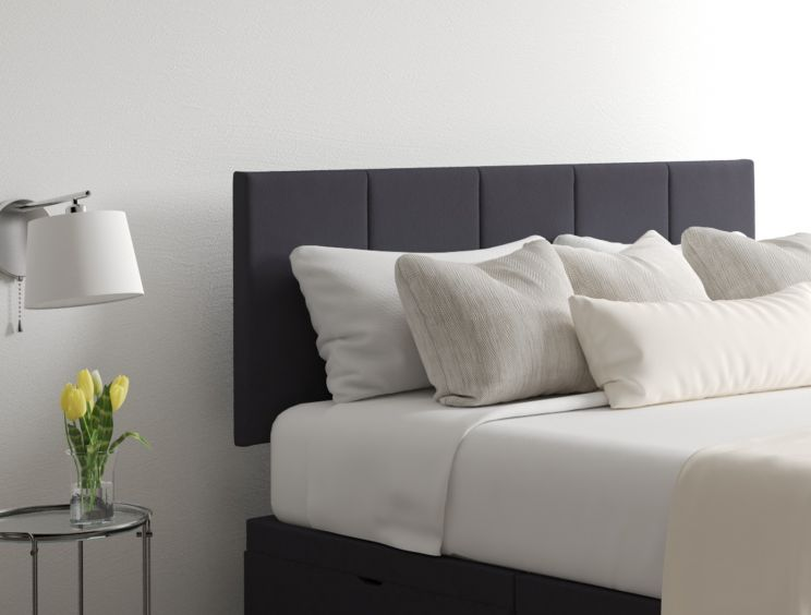 Hannah Classic 4Drw Continental Gatsby Gun Metal Headboard and Base Only