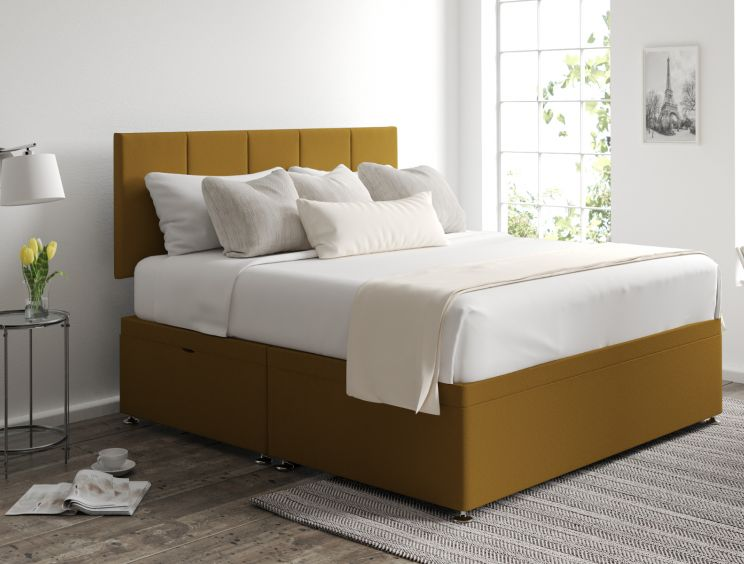 Hannah Ottoman Gatsby Ochre Headboard and Base Only