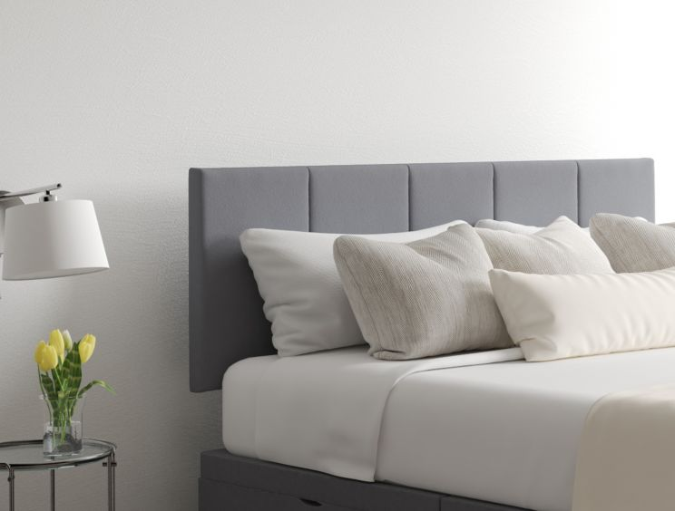 Hannah Classic 4 Drw Continental Gatsby Platinum Headboard and Base Only