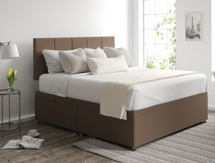 Hannah Ottoman Gatsby Taupe Headboard and Base Only