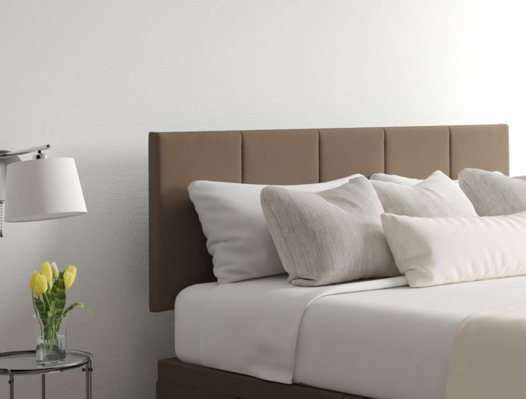 Hannah Classic 4 Drw Continental Gatsby Taupe Headboard and Base Only